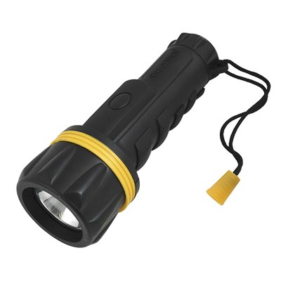 HomeLife 2xD Rubber Torch with Spare Bulb