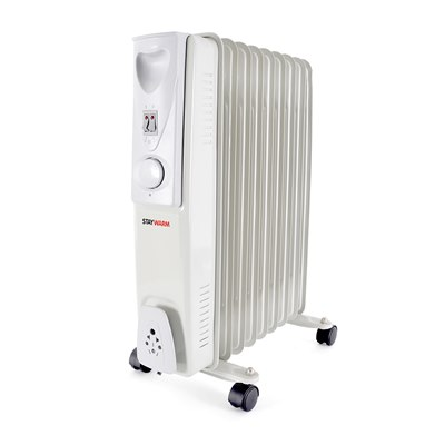 STAYWARM 2000w 9 Fin Oil Radiator - Grey