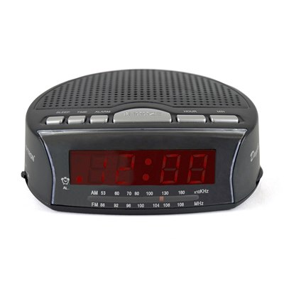 Daybreak Alarm Clock Radio Black