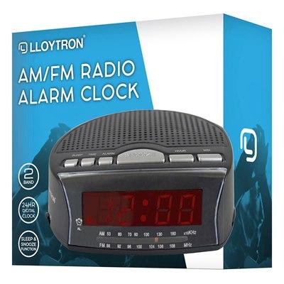 Daybreak Alarm Clock Radio Black