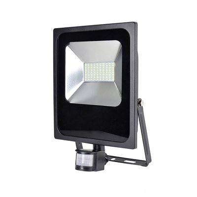RapidResponse 50w Slimline LED Floodlight with PIR & 1m Cable