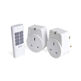 A1211WH-C RapidResponse 2x 1Kw Remote Controlled Sockets - White