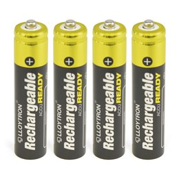 B008 Lloytron 4pk NIMH AccuReady Battery - AAA 550mAh Ready to Use
