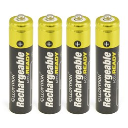 B009 Lloytron 4pk NIMH AccuReady Battery - AAA 800mAh Ready To Use