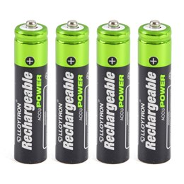 B014 4Pk NIMH AccuPower Battery - AAA 550mAh