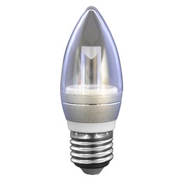 B5715ELC Candle 5w 350lm LED Bulb E27 Clear - 5600k (Cool White)