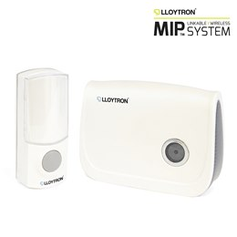 B7011WH MiP 32 Melody Battery Operated Door Chime - White