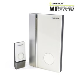 B7016WH MiP Wallmountable 32 Melody Battery Operated Door Chime - White
