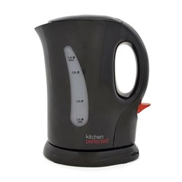 E1104BK KitchenPerfected 1.1Kw 1.0Ltr Cordless Kettle - Black