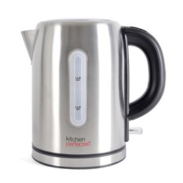 E1107BS KitchenPerfected 2.2Kw 1.0Ltr Cordless Kettle - Brushed Steel