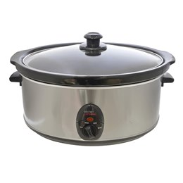 E3060SS KitchenPerfected 6.5Ltr Oval Slow Cooker - Brushed Steel