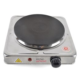 E4101BS KitchenPerfected 1500w Single Hotplate - Brushed Steel