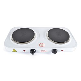 E4202WH KitchenPerfected 2000w Double Hotplate - White
