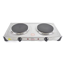 E4203SS KitchenPerfected 2000w Double Hotplate - Stainless Steel
