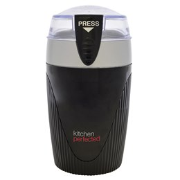 E5605BK KitchenPerfected 120w 80g Spice / Coffee Grinder - Black/Silver