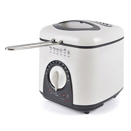 E6010WI KitchenPerfected 1.0Ltr Compact Deep Fryer - Ivory White
