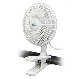 F1001WH 'STAY COOL' 6'' (15cm) 16w Clip Fan - White