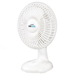 F1002WH 'STAY COOL' 6'' (15cm) 16w Desk Fan - White