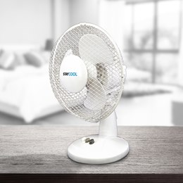 F1003WH 'STAY COOL' 9'' (23cm) Desk Fan - White