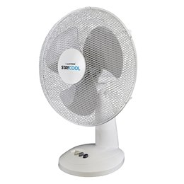 F1012WH 'STAY COOL' 12'' (30cm) 40w Desk Fan - White