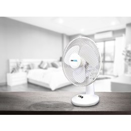 F1021WH 'STAY COOL' 16'' (40cm) Desk Fan - White