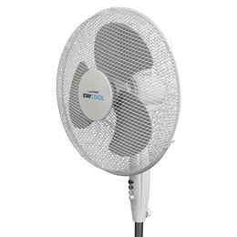 F1222WH 'STAY COOL' 16'' (40cm) 50w Pedestal Fan - White
