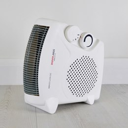 F2003WH STAYWARM 2000w Upright / Flatbed Fan Heater (BEAB) - White