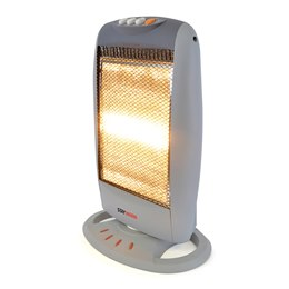 F2106GR STAYWARM 1200w 3 Bar Compact Halogen Heater - Grey