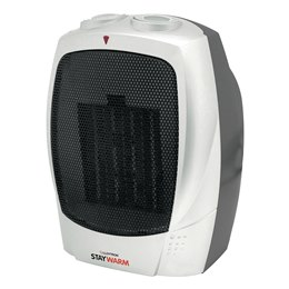 F2201SV STAYWARM 1500w PTC Ceramic Heater - Silver