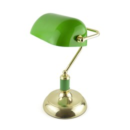 L1162GN 15'' 45w 'Advocate' Bankers Lamp - Green