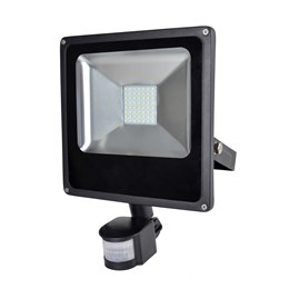L8513DP RapidResponse 30w Slimline LED Floodlight with PIR & 1m Cable