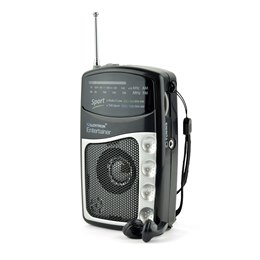 N2201BK ''Entertainer'' 2 Band DC Personal Radio With Earphones - Black