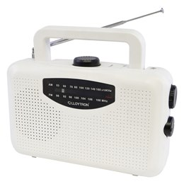 N2403WH 'Classic' 2 Band AC/DC Portable Radio - White