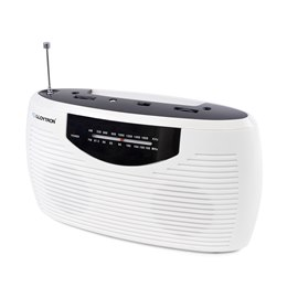 N2404WH 'Rhythm' 2 Band AC/DC Portable Radio - White