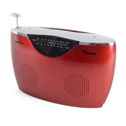 N2407RD Lloytron 'Romeo' 2 Band AC/DC Portable Radio - Red