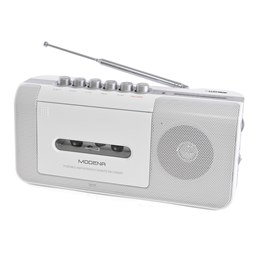 N8103WH 'Modena' Portable Radio Cassette Recorder with 2 Band Radio - White