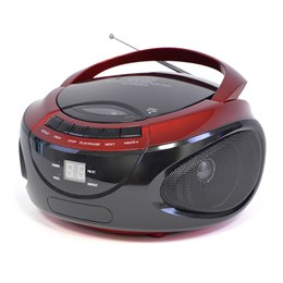 N8203RD Portable Stereo CD Player with 2 Band Radio - Red