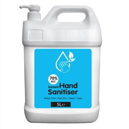 XX_L_RC5000WH Hand Sanitizer - WHITE - 5 litre - 70% Alcohol Content