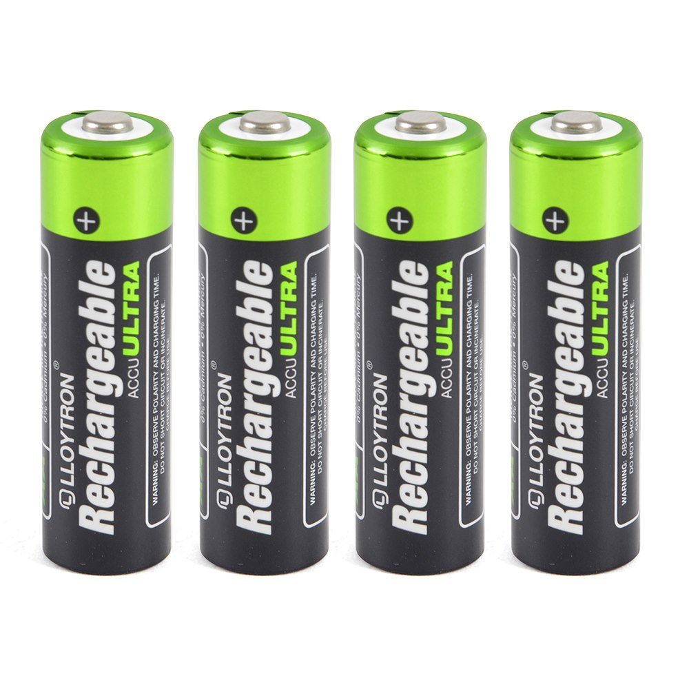 Pack of 4 Rechargeable Batteries Lloytron AA 2700 mAh NIMH AccuUltra Battery